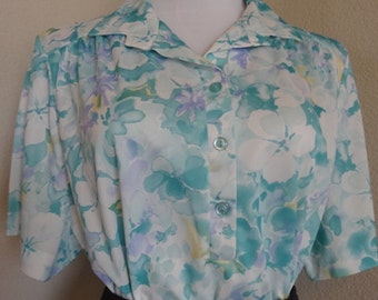 "Vintage 'Ko Ko Of California' Blouse - Chest 48"" Length 27"" - Nice!!"