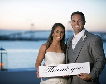 Wedding Thank You Sign || Wooden Sign || Wedding Decor || Wedding Photography Prop || Thank You