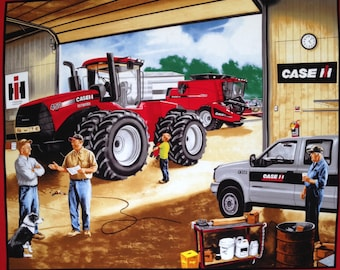 """Case in Garage cotton panel -- approximately 35"""" x 44"""""""