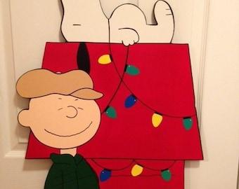 peanuts christmas yard art, charlie brown CHRISTMAS yard art decoration