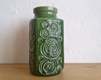 """Green Scheurich vase """"Jura"""" // WGP // 282 - 20"""