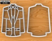 Wedding Tuxedo with internal details or just silhouette Cookie Cutter, Selectable sizes.