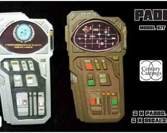 Padd model kit prop preplca scifi cardassian / fleet trek