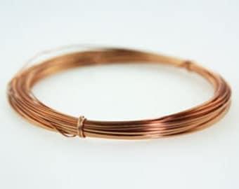 Craft Wire 1/2 Round Copper 21ga 7yd Spool (WR6121C)