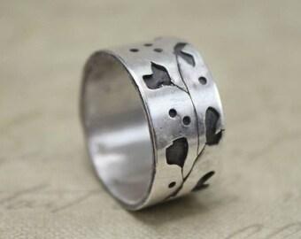 Sterling Silver Ginkgo Ring - Ginkgo Jewelry