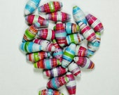 Handmade Loose Paper Beads Super Chunky (Colored Bottles)