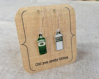 Gin and tonic earrings - Gin earrings - Gin jewellery - Gin gift - Gin lover - Quirky earrings