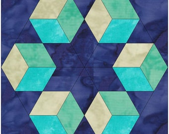 Columbia Star Paper Template Quilting Block Pattern PDF