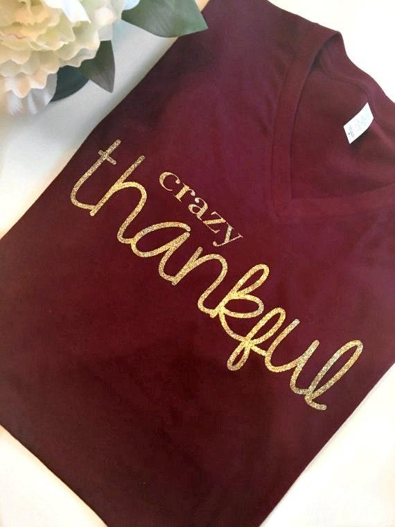Items Similar To Thanksgiving Shirts Thankful Shirt