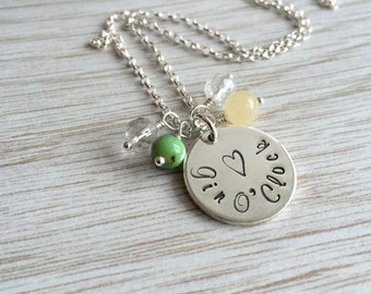 Gin Necklace, Gin O'Clock, Gin and Tonic, Silver Necklace, Gin Gift, Gin O'Clock Gift
