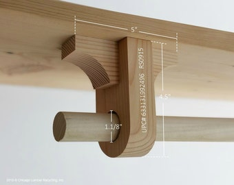 Delightful Hanging Wardrobe/Coat Rack. Add On Rod Support Bracket (RS0915) Handmade