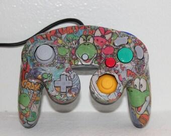 "Custom Nintendo Gamecube Comic Controller - Super Smash Bros - ""Choose your Design!"""