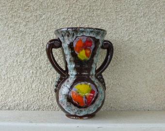 ceramic vase from vallauris south of france, not signed,number : V36 H22, vintage 1960