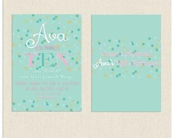 Polka Dot Confetti Invitation
