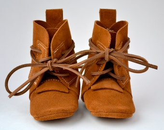 BOOT UPGRADE, Baby Moccasins, Toddler Moccasins, Leather Moccasins
