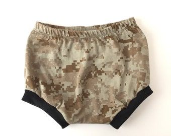 Summer bummers, digital army camo, bummies, shorties