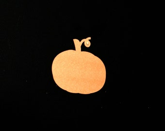 Fall Pumpkin Paper Die cut, Cardstock embellishment in orange / other colors pick amount Thanksgiving feast, Halloween parties, diy supplies