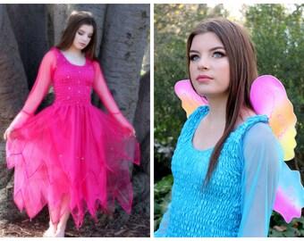 Adult Fairy Costume ~ Renaissance  ~ Theatre ~ Fairytale  Wedding ~ Masquerade~ Batcholette Party