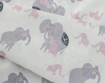Counting Elephants White, Dreamscape Collection, Dear Stella, Quilting Weight Cotton Fabric