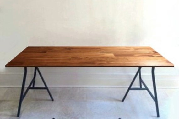 Long Desk Or Narrow Dining Table Long Table Handfinished Wood On