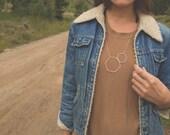 Deerskin Hexagon Necklace