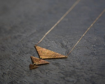 3-Tier Pyramid Necklace (Brass)