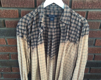 Black/Brown Bleached Flannel