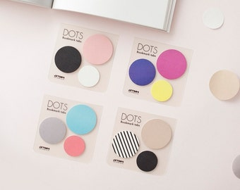 Sticky Note [ Dots ] / Bookmark / Index Sticky Note / Note pad / Memo pad