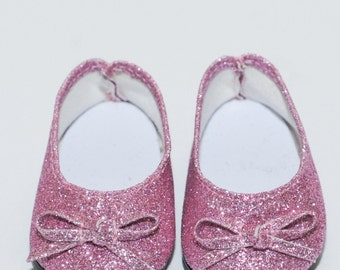 """18"""" Doll Shoes - Pink Glitter Doll Shoes"""