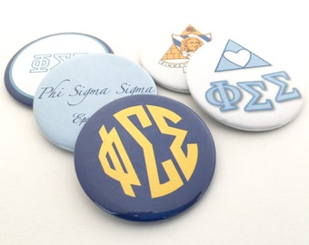 Phi Sigma Sigma Pocket Mirrors and Magnets