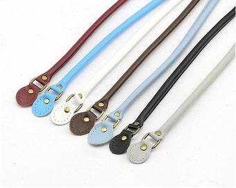 A Pair / Two PCS, 50cm / 20 inch Long Dermis / Genuine Leather Top Handle Strap / Bag Purse Handle Strap,#405