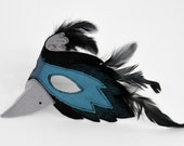 Raven Mask, Bird Mask, Owl Mask to match Bird Capes, Bird Wings, Kids Costume