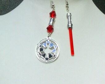 Light saber earrings