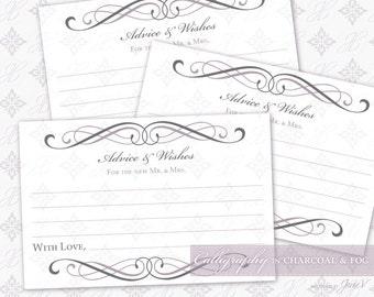 Guestbook template etsy diy printable wedding guestbook template card printable guest book card wedding advice grey pronofoot35fo Gallery