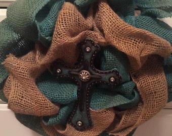 Cross wreath