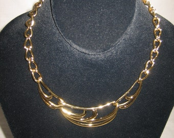 "Vintage Chunky Napier Goldtone Necklace 17"" Long NWT"
