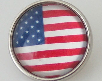 KB4034 Art Glass Print Chunk - American Flag