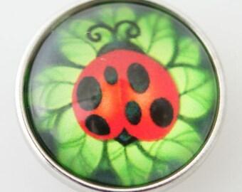 KB2906-N Art Glass Print Chunk - Ladybug