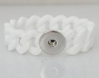 Small White Stretch Silicone Bracelet