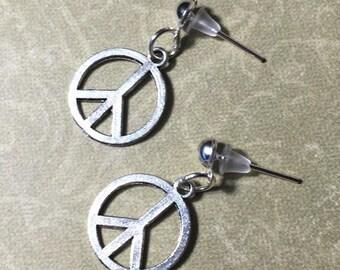 Hippie Peace Sign Earrings