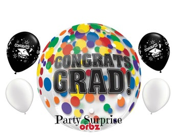 Graduation Congratulations Balloons Graduation Party Decorations Orbz Balloon Graduation Cap Balloons