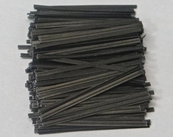 Free Shipping! Black Twist Ties - Assorted Quantities!  TP-10