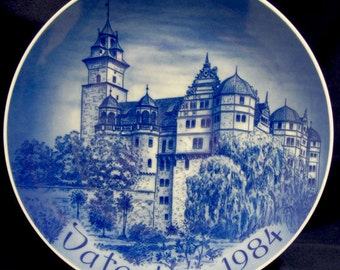 Bareuther Father's Day Plate 1984 Neuenstein Castle, Bavaria, Germany