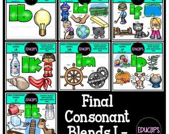 Final Consonant Blends L- Clip Art Bundle