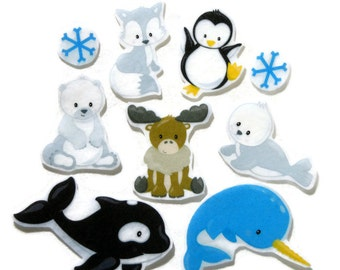 Felt board, Felt Arctic Animals, homeschool, felt board pieces, flannel board, felt board story, quiet book, busy book, felt story animal