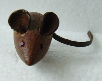 cute Dansk Design Teak mouse pin brooch Lonborg Bojesen Era