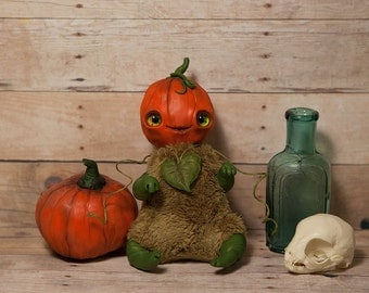 "MADE TO ORDER art toy ""Pumpkin"" doll fantasy creature"