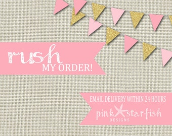 RUSH ORDER FEE - Receive your invitation proof within 24 hours