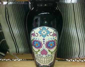Day of the Dead Sugar Skull  Vase