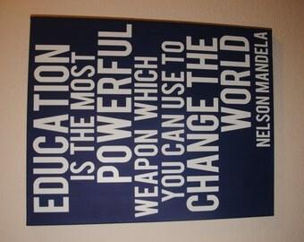 Nelson mandela quote | Etsy